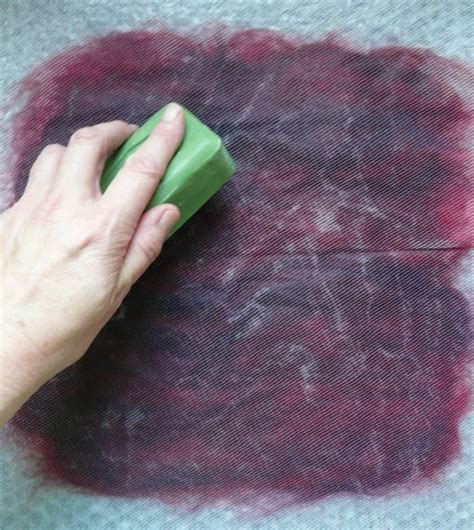 tutorial wet felt making  beginners rosiepink