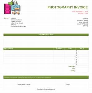Free Contractor Invoice Template Word 5 Photography Invoice Templates To Make Quick Invoices