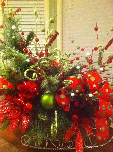 beautifully decorated christmas sleigh decor  fresh