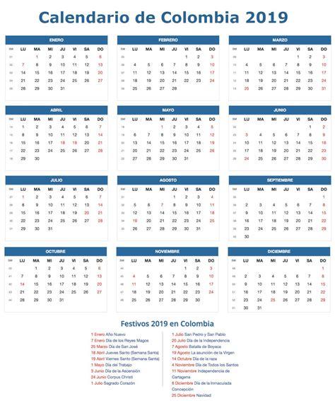 calendario colombia