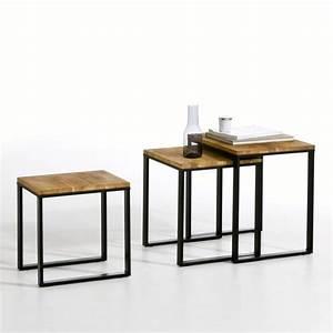 Tables Gigognes Ikea : table basse gigogne lot de 3 hiba naturel la redoute interieurs la redoute ~ Teatrodelosmanantiales.com Idées de Décoration