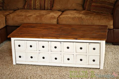 apothecary coffee table  toybox trundle ana white