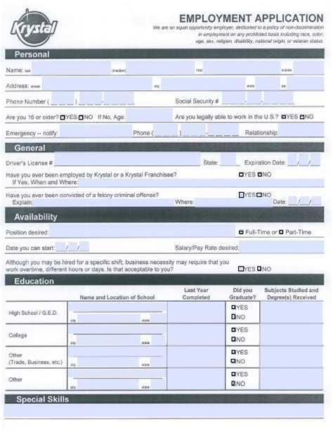 publix application form download krystal burgers job application form adobe pdf
