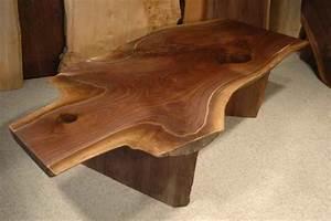 639 irregular walnut crotch custom rustic slab coffee table With rustic wood coffee table for sale