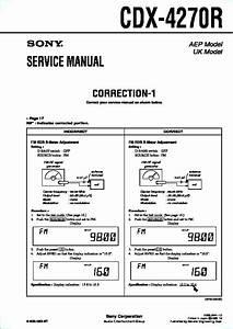Sony Cdx-4270r Service Manual