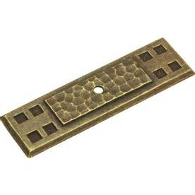 shop hickory hardware brass cabinet backplate at lowes com