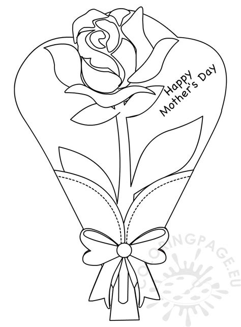 flower greeting card rose coloring pages  kids coloring page