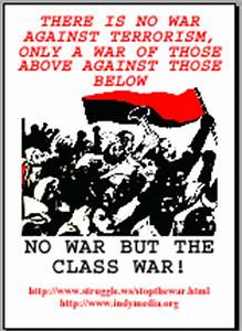 PDF file of the anti war poster, There is no war against ...