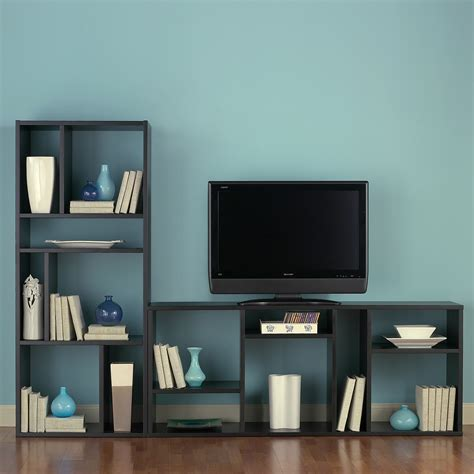 Tv Bookcases jesper zen 2 shelf bookcase tv stand bookcases at hayneedle