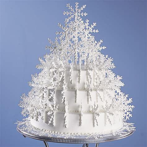 shimmering snowflake tree cake wilton