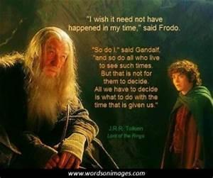 Famous Quotes F... Frodo Elvish Quotes