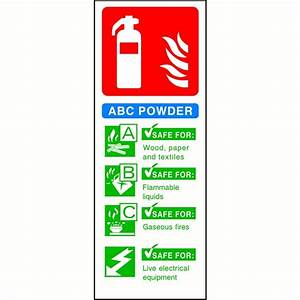ABC Powder Fire Extinguisher sign - SK Signs & Labels