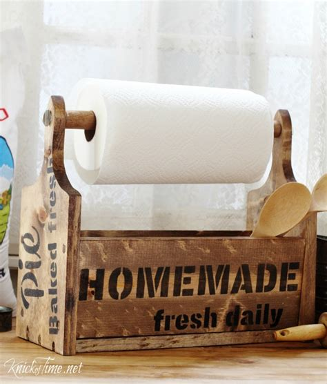 fun diy paper towel holders   kitchen