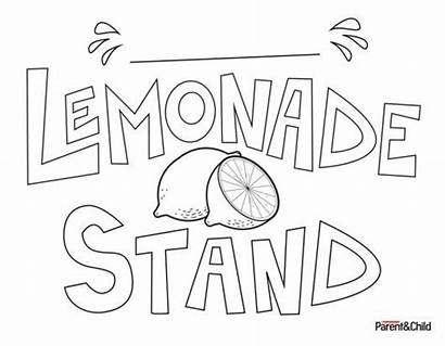 Lemonade Sign Stand Signs Stands Printable Scholastic