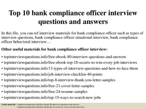 Questions For Production Manager And Answers by Top 10 Bank Compliance Officer Questions And Answers