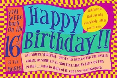 Birthday 16th Cards Card Printable Philosophical Numerology