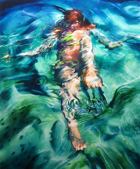 art sheep features underwater paintings  sarah harvey