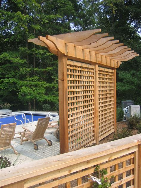 Outdoor Privacy Trellis by Pergola Trellis And Evergreens Arbours