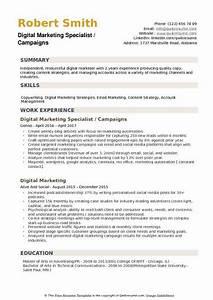digital marketing specialist resume resume ideas With digital resume template