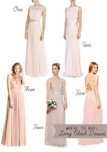 where to buy bridesmaid dresses subtle and sweet blush bridesmaids dresses onefabday