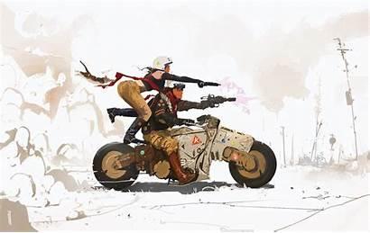 Cyberpunk Biker Science Fiction Wallpapers Artist Artwork