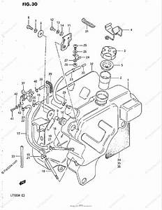 Suzuki Atv 1984 Oem Parts Diagram For Fuel Tank