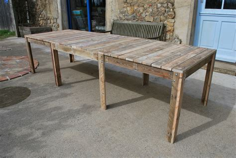 fabriquer un bureau en palette emejing plan fabrication table de jardin contemporary