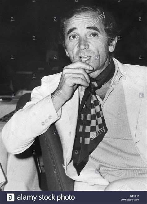 Charles Aznavour French Singer Black And White Stock