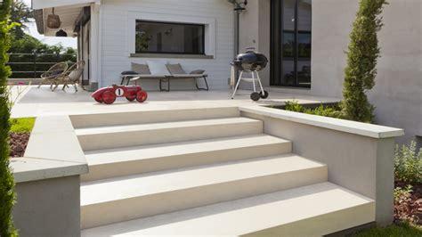 beton imprime en deco exterieur sol
