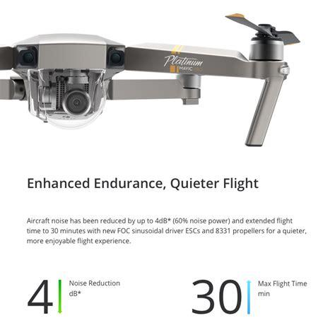 dji mavic pro mini platinum drone  minutes flight time