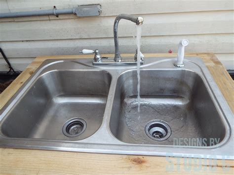 which side is water on a sink install an outdoor sink faucet