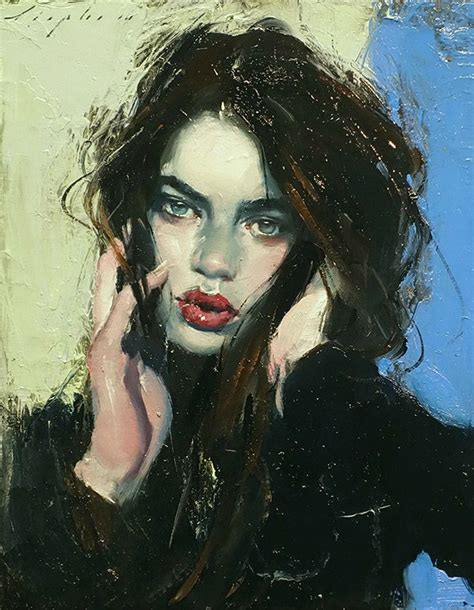 """""""tousledhair""""  Malcolm T Liepke (b 1953), Oil On"""