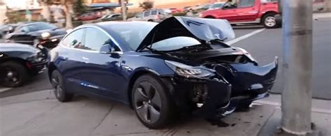 Tesla Model 3 Clears The Unofficial Head-on Pole Crash