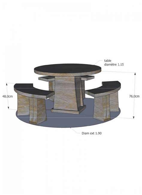 mobilier de jardin en reconstituee salon de jardin en reconstitu 233 e tables et bancs en