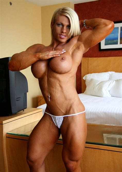 Busty Sexy Blonde With Big Ripped Muscles Pichunter