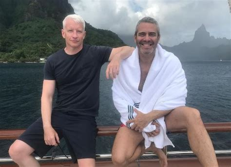 andy cohen and anderson cooper friends bradley cooper irina shayk vacation with anderson cooper