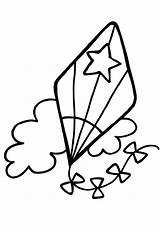 Kite Coloring Pages Printable Clipart Star Flying Preschool Patten Kites Spring Az Kahlo Frida Getcoloringpages Clipartmag Popular sketch template