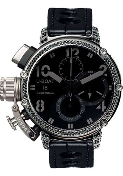 U Boat Watch Chimera 46 Carbonio Limited Edition by U Boat Chimera 46mm Sideview Watches From Swissluxury