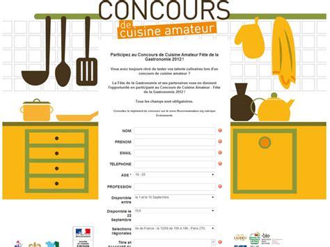 concours cuisine lancement du premier concours de cuisine
