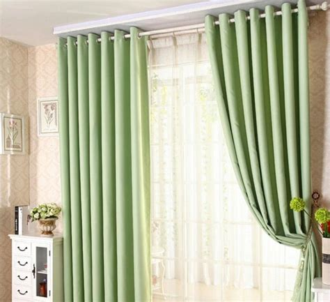 modern minimalist solid color blackout curtains for living