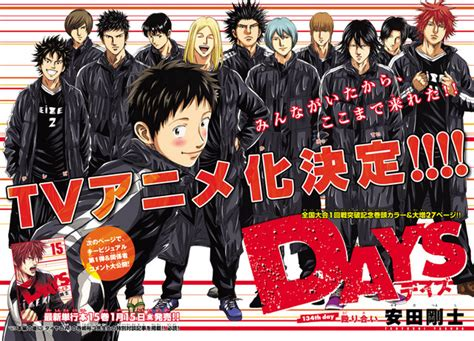 crunchyroll staff for quot days quot tv anime announced