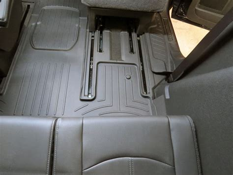 chevy traverse floor mats 2015 weathertech 2nd and 3rd row rear auto floor mat black