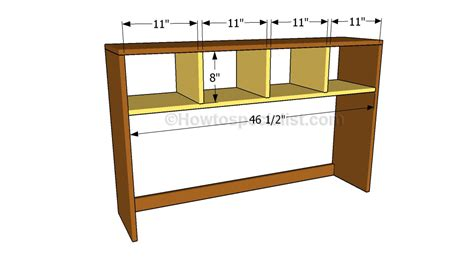 Desk With Hutch Plans by Desk Hutch Plans Howtospecialist How To Build Step By