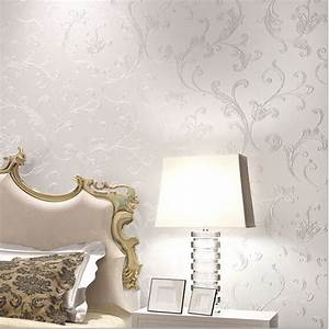 Europe elegant acanthus leaf non woven wallpaper wall