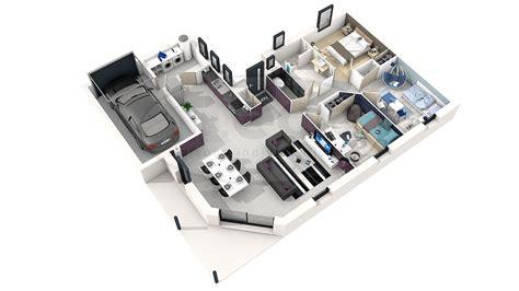 plan de chambre 3d plan de maison moderne 3d
