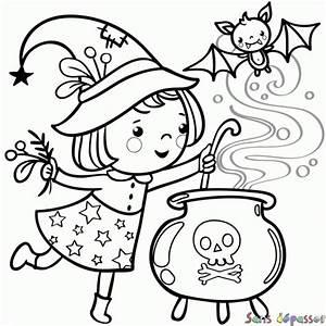 Dessin Facile Halloween : coloriage petite sorci re sans d passer ~ Melissatoandfro.com Idées de Décoration