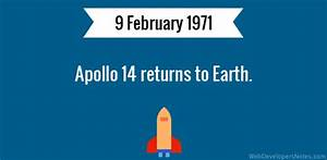 Apollo 14 returns to Earth