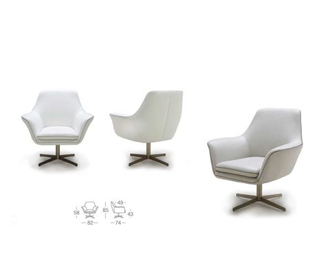 modern leather swivel chair k832 accent seating