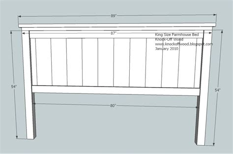 ana white build  farmhouse king bed plans