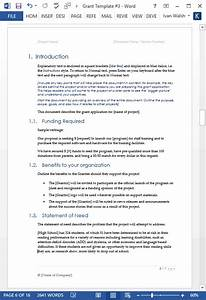 Executive Summary Format Template Grant Proposal Template Ms Word Excel Templates Forms